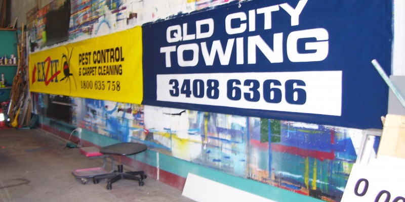 painted vinyl banner